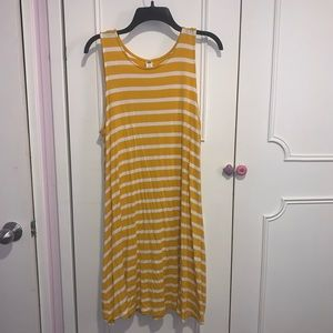 Yellow striped sundress